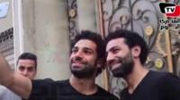 Mo Salah and Ahmed Bahaa