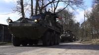 Бронетехника НАТО в Польше