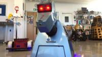 Stephen Fearn's replica of Doctor Who robot K-9