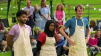 Tamal Ray, Nadiya Hussain and Ian Cumming
