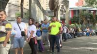 Voters queue for Venezuela election