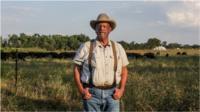 Will Harris on his farm in Georgia