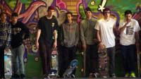 Скейтеры на площадке Southbank Centre