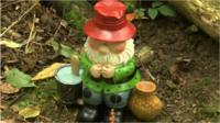 One of the donated gnomes