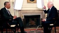 President Barack Obama and Sir David Attenborough