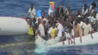 Migrants rescued from sea