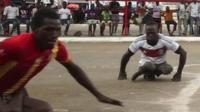 Skate soccer on the streets of Accra, Ghana