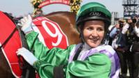 Michelle Payne is the first female jockey to win the Melbourne Cup