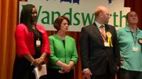 Financial Secretary to the Treasury Jane Ellison has lost her seat in Battersea.