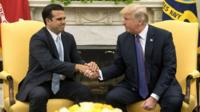 President Trump and Puerto Rico governor Ricardo Rossello,