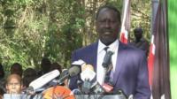 Kenyan opposition leader Raila Odinga
