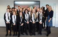 Sian Lloyd and the Maesteg School School Reporters