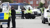 Police raid in Moss Side, Manchester on 28 May 2017
