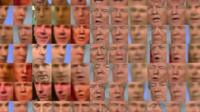 A montage of frames of BBC Click's Spencer Kelly and US President Donald Trump