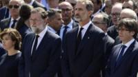 King Felipe at ceremony