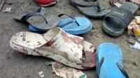 Bloody flip flop at scene of the 16 February attacks in Konduga, Nigeria