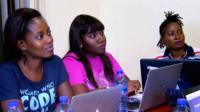 Members of the Women Who Code network in Ghana