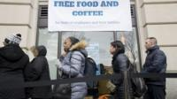 Pop-up kitchens are serving free food to unpaid federal workers as the US government shutdown drags on.