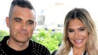 Robbie Williams, Ayda Field, Louis Tomlinson and Simon Cowell