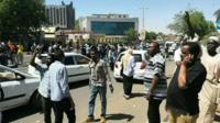Protests in Khartoum. 6 April 2019