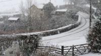 Snow in Llanuwchllyn, Gwynedd
