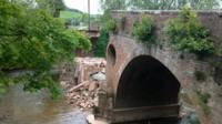 Eastham Bridge collapsed