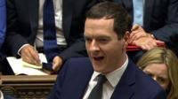 George Osborne at PMQs