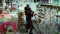CCTV robbery in Aylesford shop