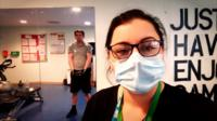 Staff member and patient