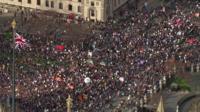 NHS protest aerials