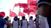 Protesters in Wukan, China.
