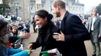 Meghan Markle and Prince Harry at Cardiff Castle