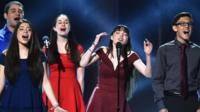 Marjory Stoneman Douglas High School students perform at the Tonys