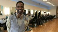 Jermaine Johnson owner of 'No Grease' Barbers