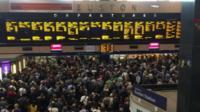 Euston at a standstill