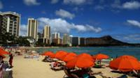 A view of Honolulu's Waikiki beach on June 15, 2010. AFP PHOTO/PATRICK BAZ (Photo credit should read PATRICK BAZ/AFP/Getty Images)