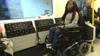Disabled commuter on the Tube