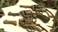 Guns recovered by magnet fishermen