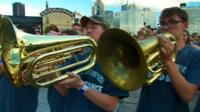 School band in Pittsburgh
