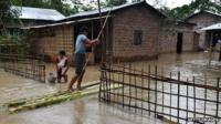 Flooding in Guwahati Assam