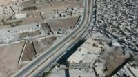 Castello Road on the outskirts of Aleppo