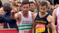 An inspirational end to the Marathon for two runners