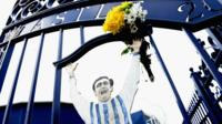 Jeff Astle photo with flowers