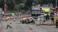 Shoreham air disaster wreckage