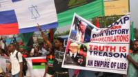 Pro-Biafra protesters in Port Harcourt