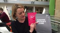 Laura Kuenssberg with the Labour manifesto