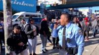 Singing police officer