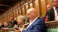 MPs sing Calon Lan in the Commons