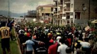 Protesters out on the streets in Bamenda