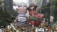 Big anti-government protest in Brazil
